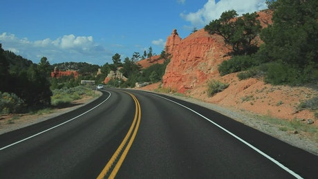 Driving towards a National Park