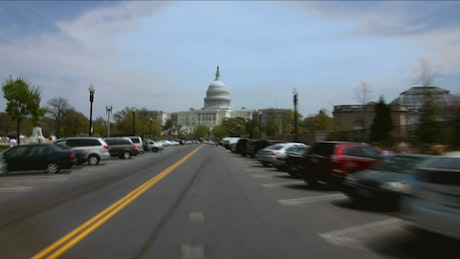 Driving towards Capitol Hill
