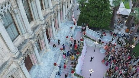 Drone above a Wedding