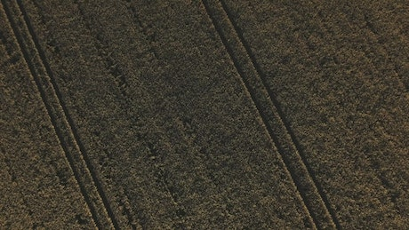 Drone flying over large fields