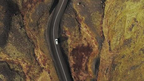 Drone following a car
