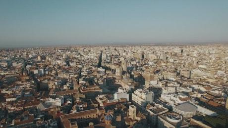 Drone high above Valencia