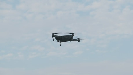 Drone in the air maintaining stability