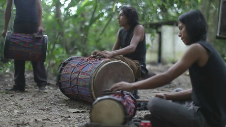 Drummers at the jungle