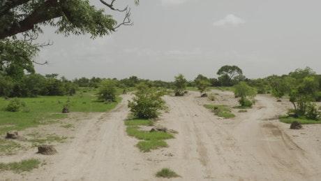 Dry roads through Mali