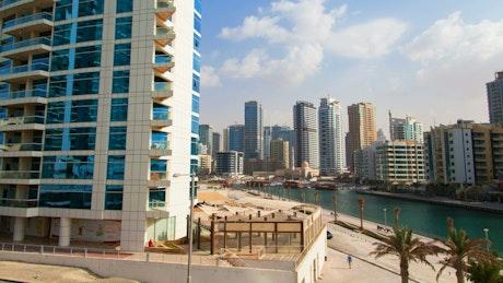 Dubai cityscape in daytime