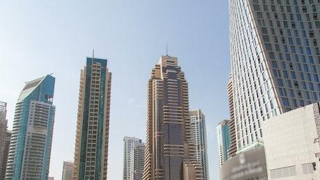 Dubai Marina skyscrapers at day time