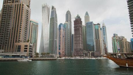 Dubai marina time lapse