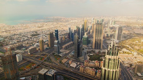 Dubai skyscrapers and Highway
