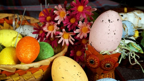 Easter eggs and other decorations