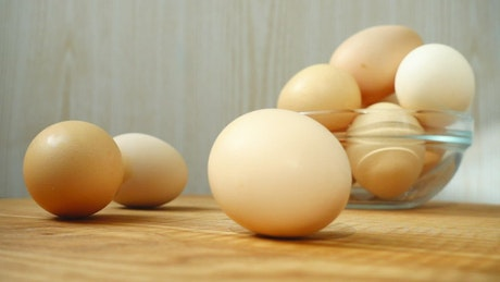 Eggs for cooking, composition