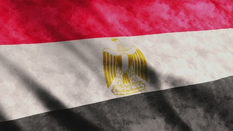 Egypt faded flag waving, full screen