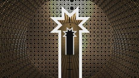 Eid Mubarak memorial tunnel