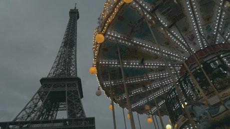 Eiffel Tower and an amusement park