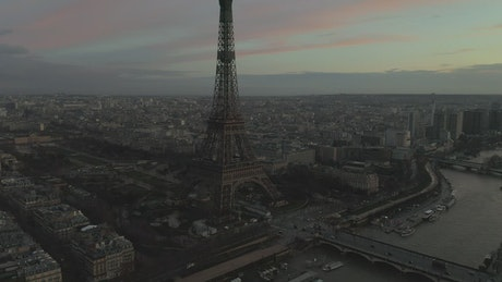 Eiffel Tower Panorama viewed from the air