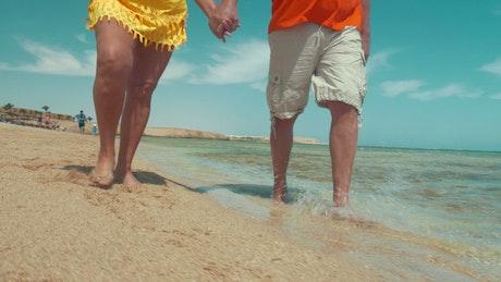 Elderly couple enjoying a vacation