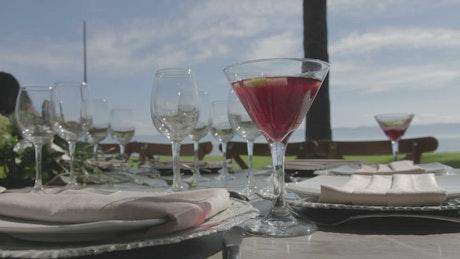 Elegant outdoor wedding table
