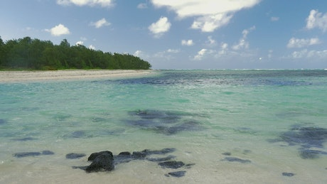 Empty bay with crystal clear water