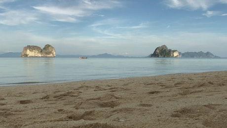 Empty beach in the evening
