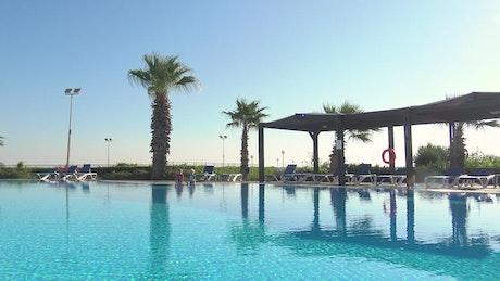Empty hotel swimming pool