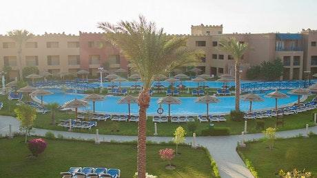 Empty swimming pools