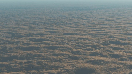 Endless sky full of clouds in 3D from higher