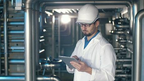 Engineer working in industry