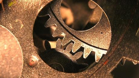 Engranajes industriales Grunge trabajando