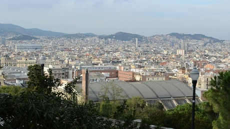 Enjoying the view in Barcelona