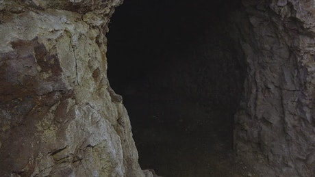 Entrance of a rock cave