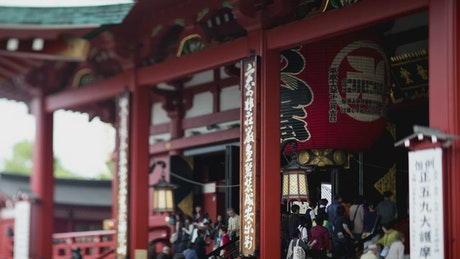 Entrance to the Senso Ji Shrine in Tokyo Japan from the side