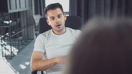 Entrepreneur business man talking