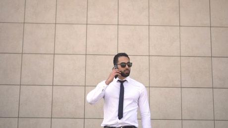 Entrepreneur man talking on cell phone