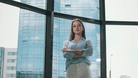 Entrepreneurial young businesswoman, portrait