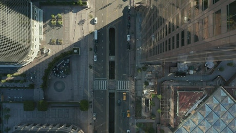 Epic aerial view of buildings on an avenue