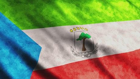 Equatorial Guinea flag moving