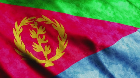 Eritrea flag waving