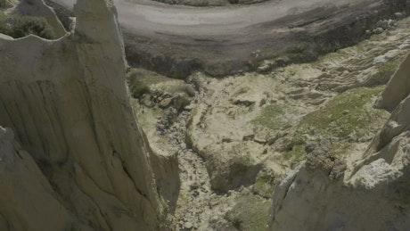 Eroded cliffs in the desert