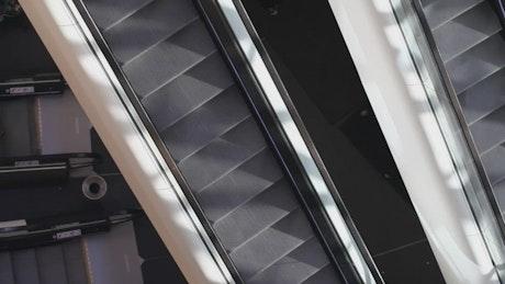 Escalators of a shopping center