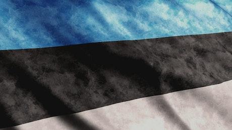 Estonia faded flag in 3D render