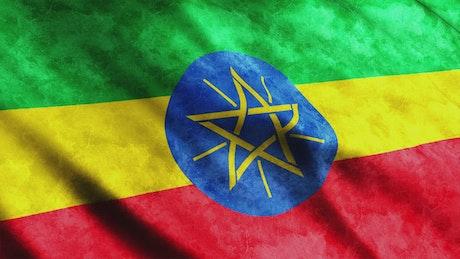 Ethiopia flag in full screen
