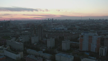 Evening over a Russian city