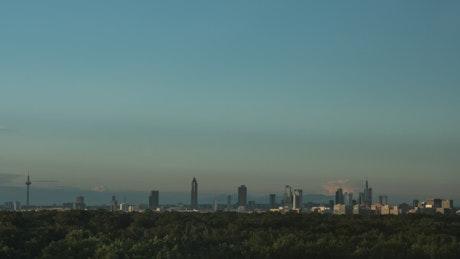 Evening sky in Frankfurt