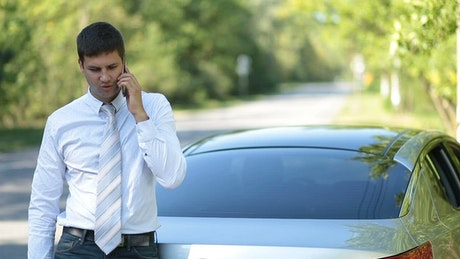 Executive talking on the phone