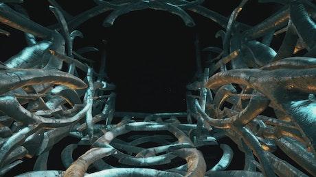 Exit tunnel of an alien spacecraft