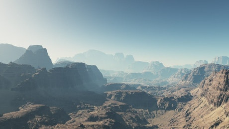 Exploring Mars, aerial shot