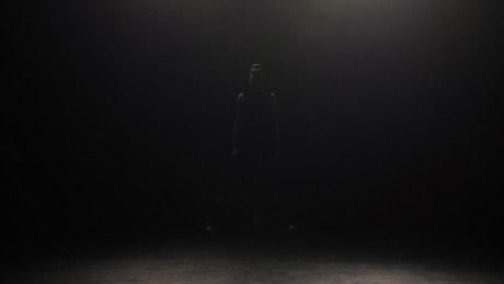 Expressive dance in a dark room
