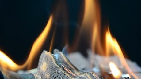 Fabric burning inside