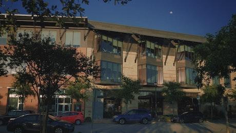 Facade of a modern small building