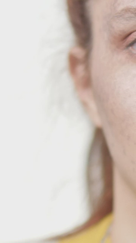 Face of a young woman, close up portrait